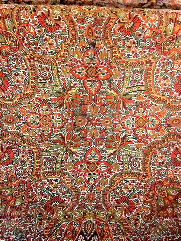 Square Indian Paisley Shawl Size 68 70inches Perfect