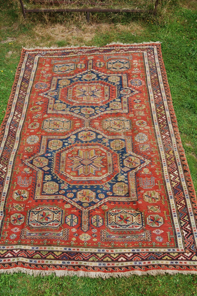Antique Sumak Carpet 19th C A Few Low Spots And A Couple