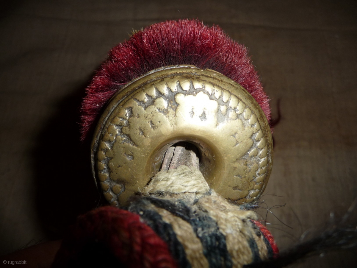 Very Nice Tibetan Animal Amulet Trapping With Cast Bell