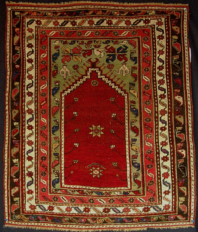 Prayer Rug Dimensions: Small Central Anatolian Prayer Rug From The Turn Of The