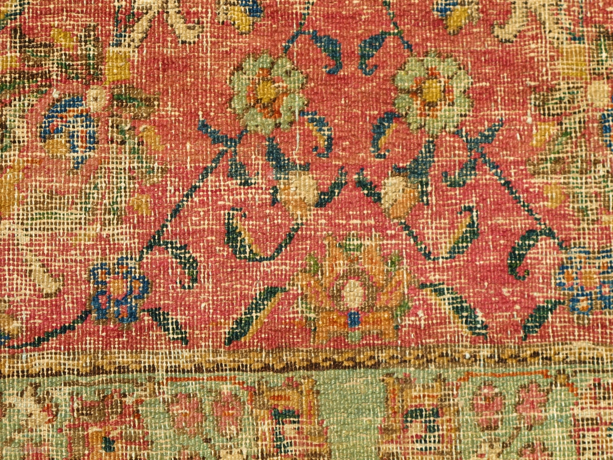 Border Fragment Of A 17th Century Isfahan Or Indo Isfahan