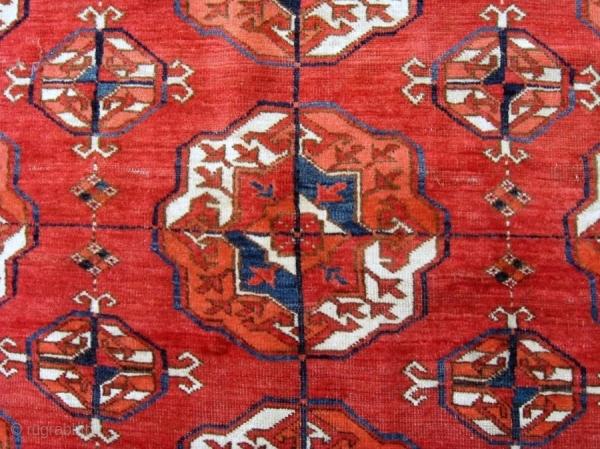 Elegant Mid 19th C Tekke Main Carpet 10 5 Quot X 7 2