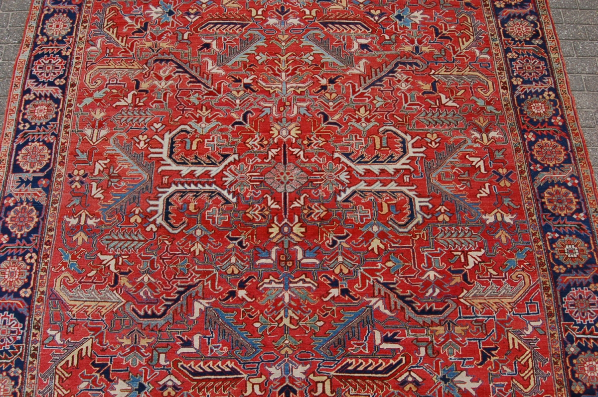 High Quality Antique Heriz Carpet 377 X 295 Cm 12ft 7 Quot X