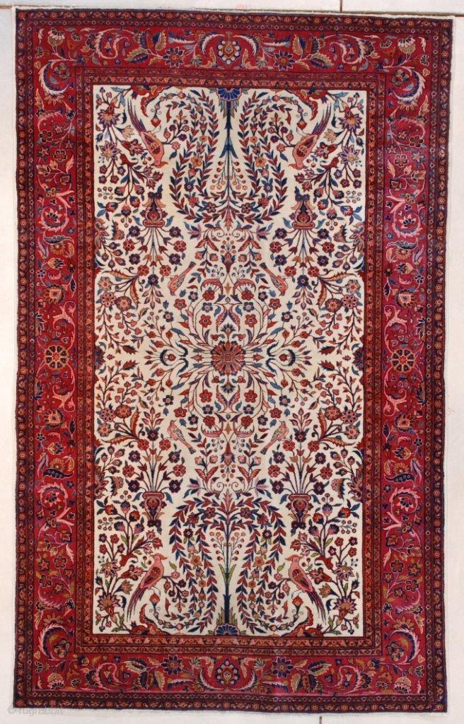 #7657 Dabir Kashan Antique Persian Rug This circa 1900 ...