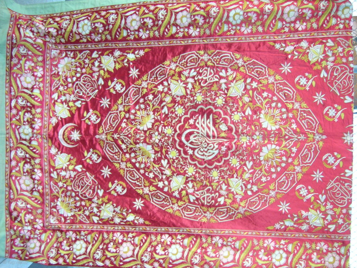 Large Turkish Embroidered Wall Hanging Showing Sultan S