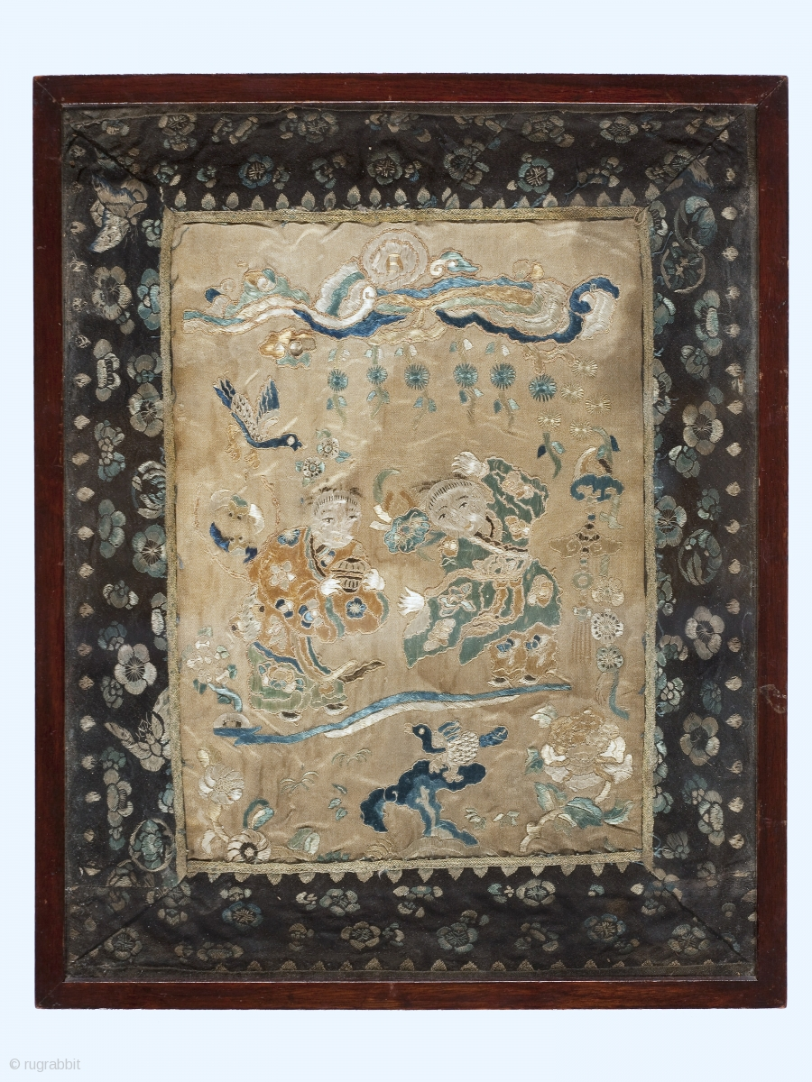 Antique Chinese Silk Embroidery In