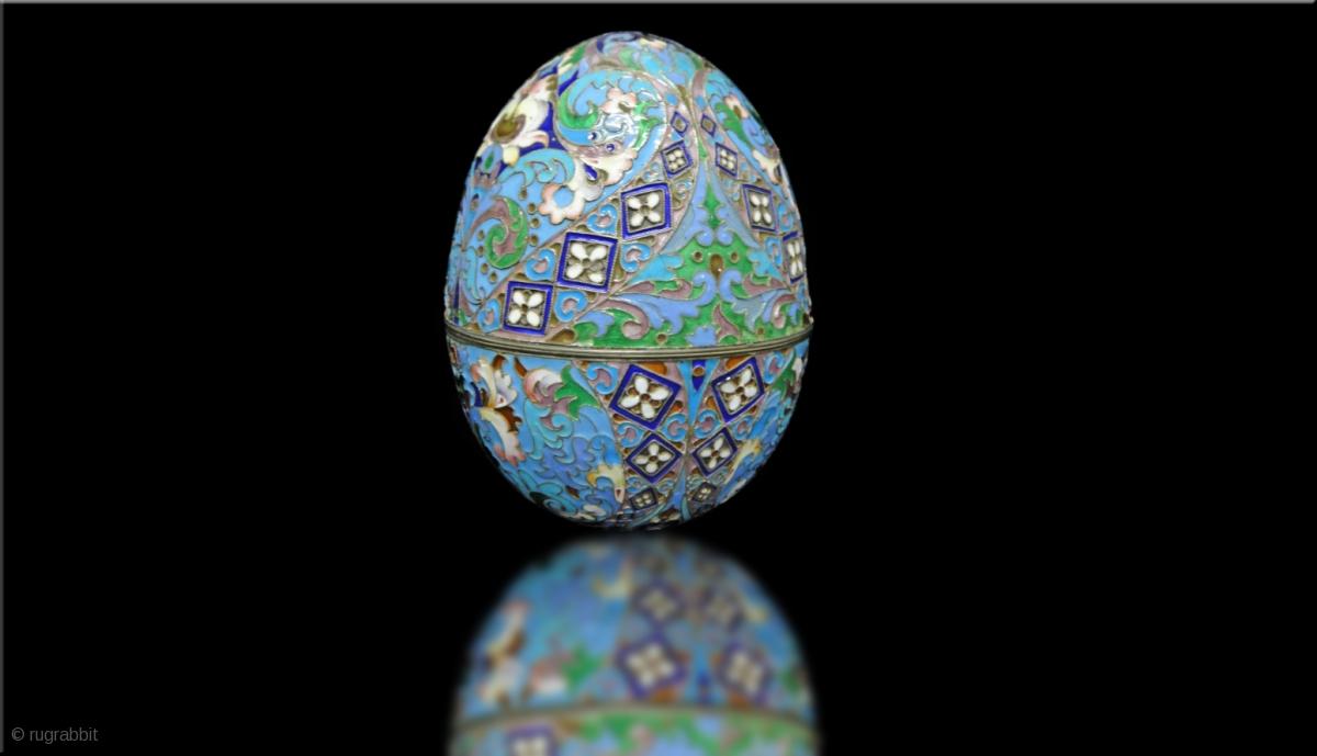 A Russian Silver Enamel Egg Rugrabbit Com