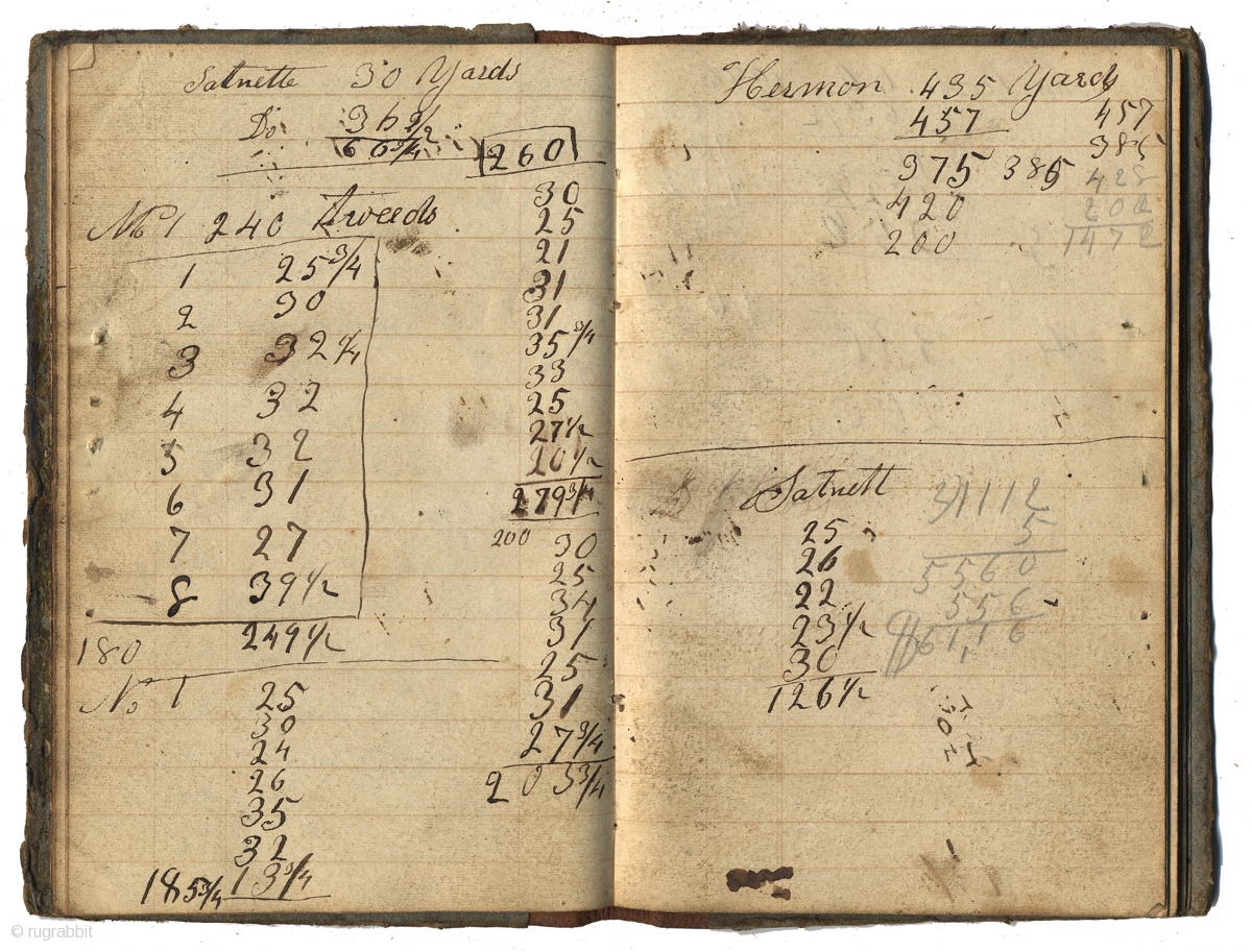Book Very Old American Ledger Notebook 1842 To 1844 6