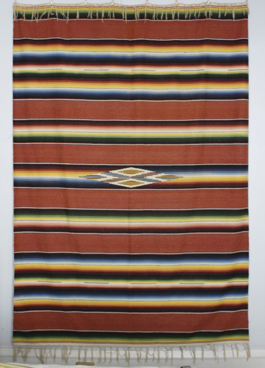 This Traditional Mexican Serape Textile Measures 64 X 84