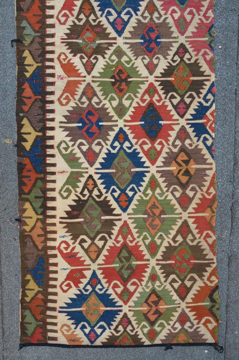 Antique Anatolian Kilim Fragment With Quot Elibelinde Quot Pattern