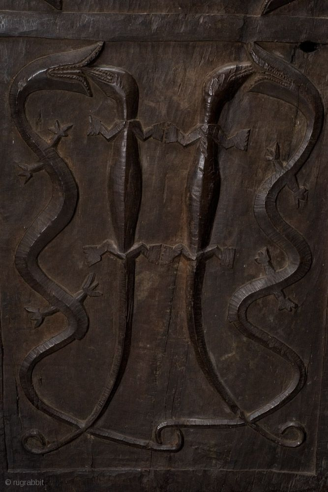 Longhouse Chief S Door Bidayuh Dayak West Borneo Ironwood 19th Early 20th Century From A Japanese Collection
