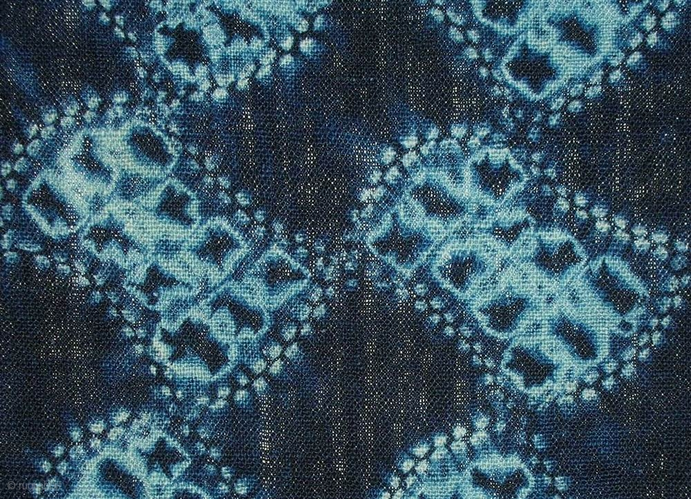 Bundou Tsunagi Shibori Cloth Japan Meiji C 1880