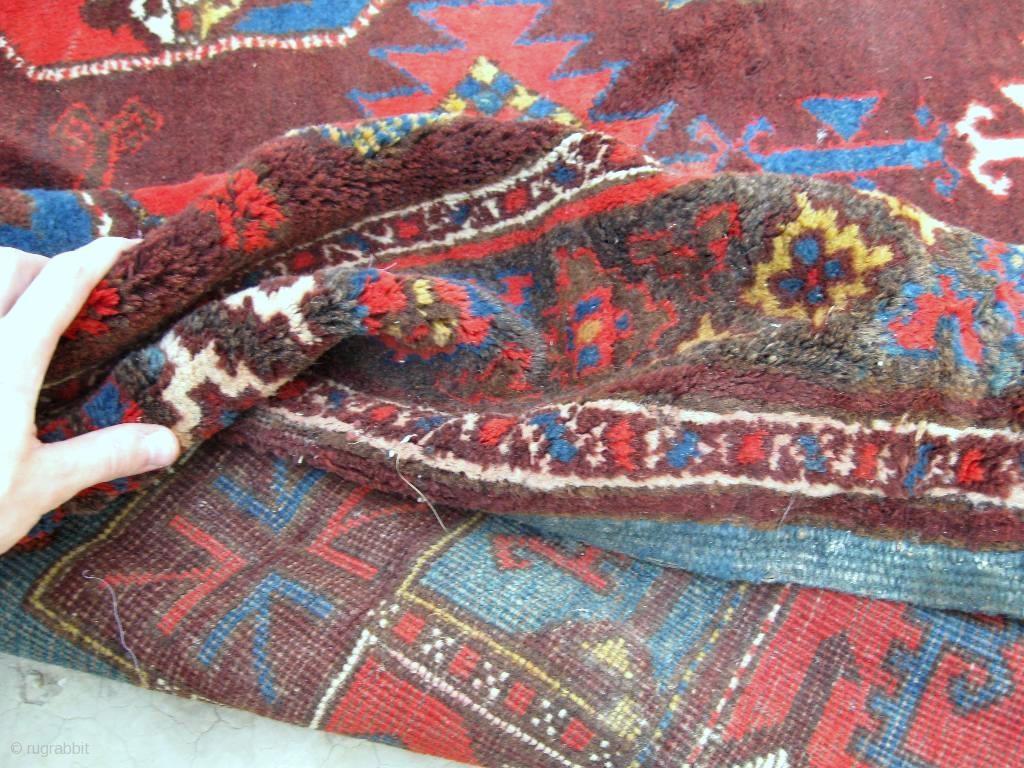 Antique Uzbek Karakalpak Rug Central Asia Circa 1920
