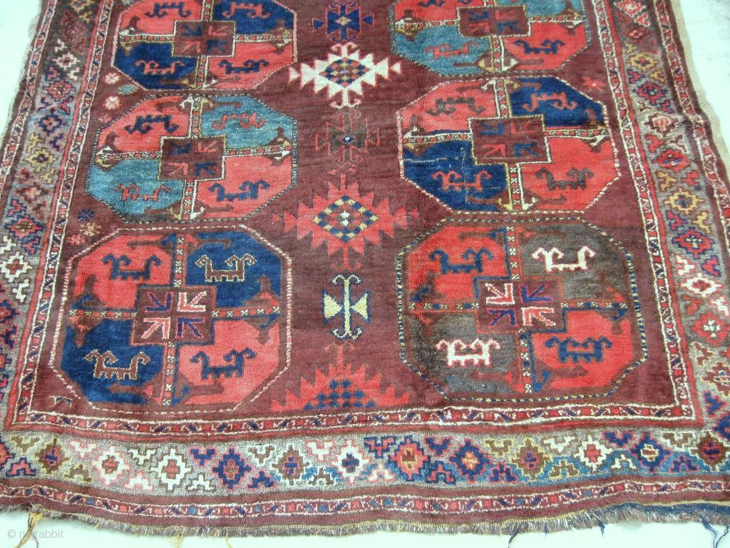 Antique Uzbek Karakalpak Rug Central Asia Circa 1920