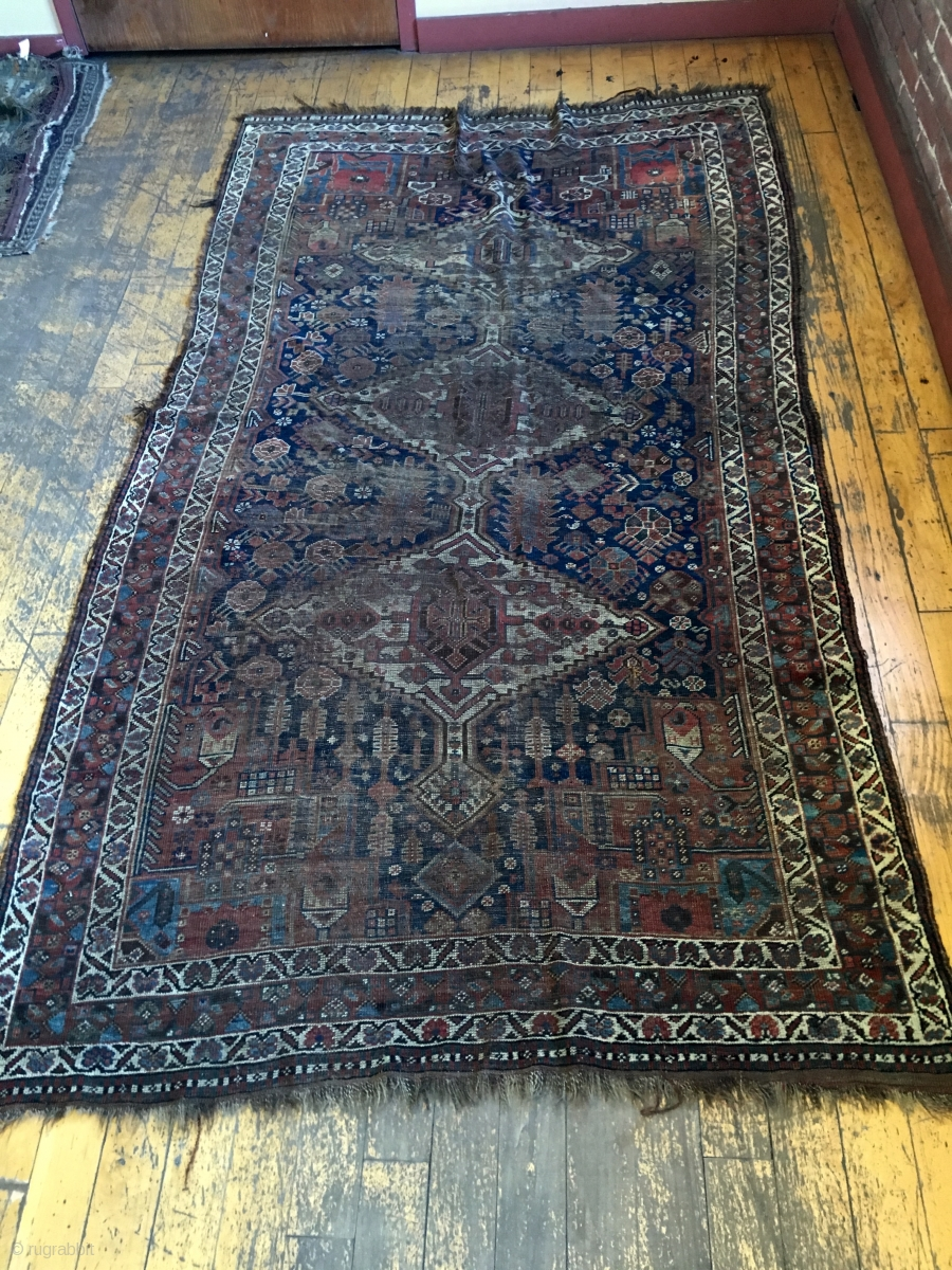 Free Shipping Sites >> Back room storage clean out. Old South Persian rug. Dirty ...