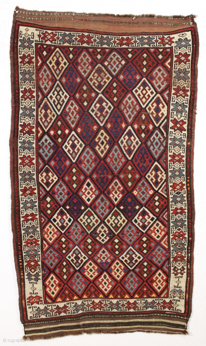 Antique Tribal Mystery Rug Charming Little Rug With A