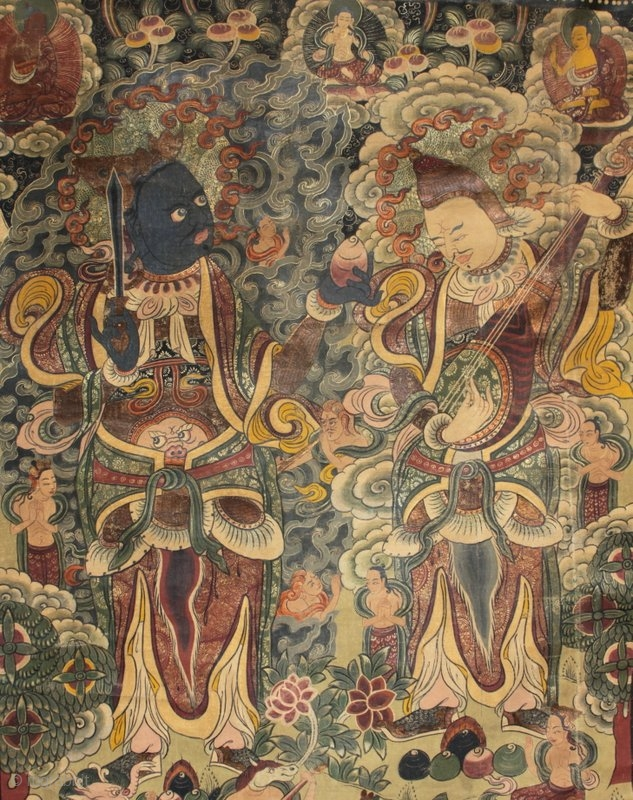 A Rare And Beautifully Painted Very Large Tibetan
