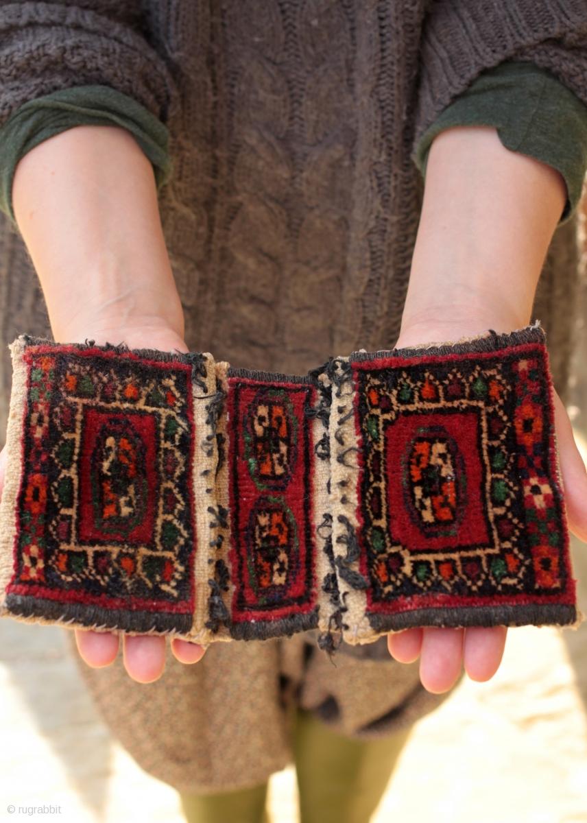 Miniature Turkoman Or Turkmen Khorjin Saddle Bag Only 9