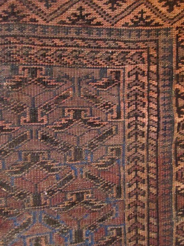Antique Hand Woven Persian Baluchi Rug Z Antique Persian