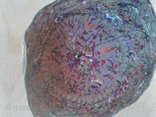 Turkmen hat 19th century silk embroidery good condition