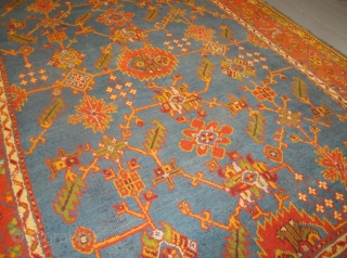 "Antique Ushak Carpet, 3.54m x 2.74m, (11'8"" x 9'). Decorative and available."