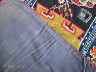 Antique Tibetan Saddle Cover, 1.36m x 0.65m. Available. www.aaronnejad.com