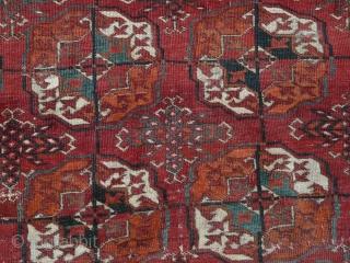 Beautiful Tekke main carpet, circa 1850.