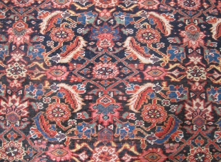 Very nice 19th century Bidjar Kellei, 12ft x 5ft 4 inches (3.65m x 1.65m), wool foundation, delightful colours, including a very nice aubergine, even wear throughout. Reasonably priced.