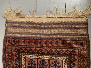 Belouch Prayer Rug, 1.32m x 0.85m (4ft 3 inches x 2ft 10 inches), good colours. Very good condition. Reasonable price.