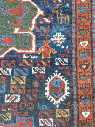 """Rare Shahsavan Long Rug, 3.40m x 1.03m (11'2"""" x 3'5""""), circa 1880. Dated with inscription. This is a very nice example. Woven on wool foundation with great velvety wool pile and wonderful  ..."""