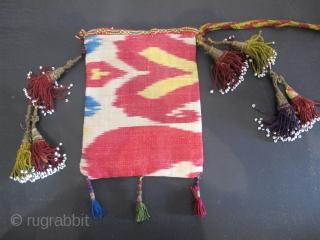 Antique Silk Ikat Double-Sided Purse, Uzbekistan