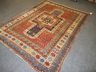 """Antique Kazak Rug, 2.10m x 1.59m (6' 11"""" x 5'2"""")"""