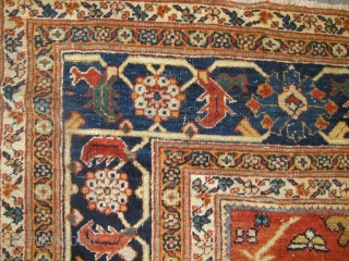 "Antique Ziegler Carpet, 3.86m x 2.62m (12'6"" x 8'6"")."