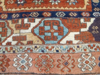 """Antique East Anatolian Rug, 2.80m x 1.16m (9'2"""" x 3'10""""), wonderful wool and dyes. Great design, lots of archaic ornaments. Very good condition."""