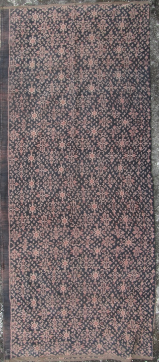 """Flores Woman's Tube Sarong  Lovely mid 20th century (1950-1960) woman's sarong with """"patola"""" floral pattern, from Flores, Indonesia. All very finely woven with handspun cotton and natural dyes, excellent condition and unopened.  ..."""
