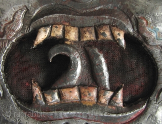 Tibet: Wonderfully ferocious mask of the Dharmapala Mahakala. This deity is one of the protectors of the Dharma (Buddhist law), but is mainly popular with Mongolian and Tibetan nomads because traditionally he  ...