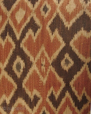 Indonesian Ikat: Fine and rare Toraja, Sulawesi seko mandi (funeral shroud) possibly from Seko village. The Torajans have elaborate and often excessive burial rites (depending on the wealth or status) of the  ...
