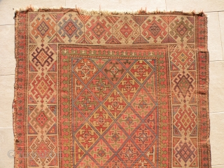 Early caucasian rug, 117x220cm