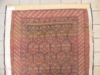 Antique nw Persian Kurdish rug 125x255 cm