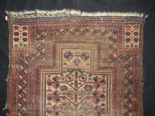 Antique Baluch prayer rug 84 x 123cm