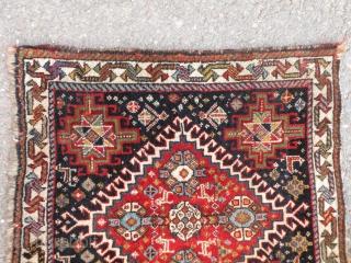 Antique Qashqai bagface, 59x60 cm