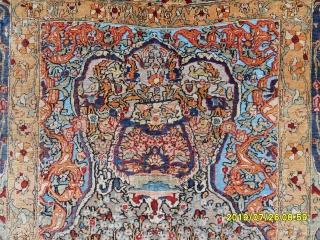 Antıque Anatolian Hereke Silk Carpet size: 145x110 cm.