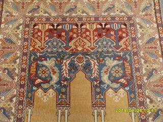 Antique Transilvanya Tuduk Prayer Carpet Perfect size: 215x150