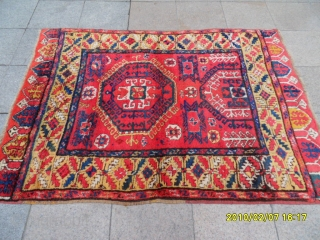 Antıque Anatolian Konya Carpet size:186x136 cm .
