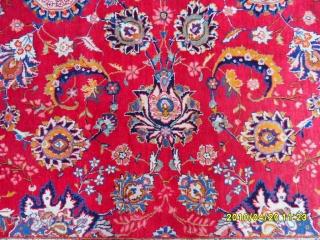 Antique Keshan Main Carpet size:355x235 cm.