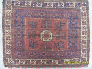 Antıque Türkmen Baluch Bagface size: 75x77 cm.