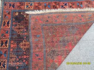 Antique Temuri Baluch Carpet size: 130x115 cm.