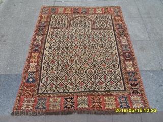Antique Caucasian Şirvan Prayer Marashali Carpet size: 147x118