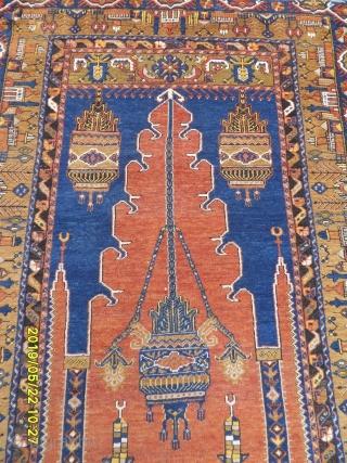 Antique Anatolian Zille Prayer Carpet  size: 218x121 cm.