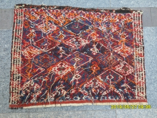Antique Sahsavan Bagface original piece, size: 50x65